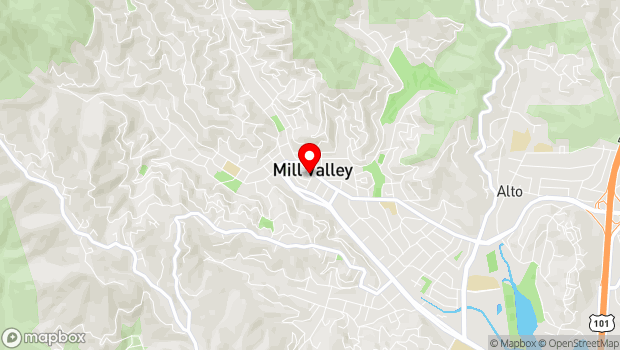 Google Map of 39 Forrest Street, Mill Valley, CA 94941