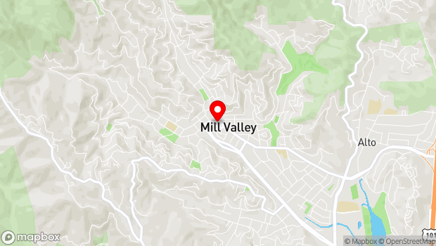 Google Map of 11 Throckmorton Avenue, Mill Valley, CA 94941