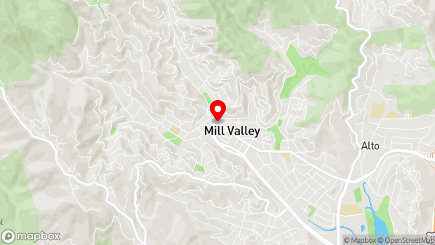 Google Map of One West Blithedale, Mill Valley, CA 94941