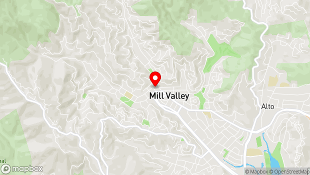 Google Map of 26 Corte Madera Ave, Mill Valley, CA 94941