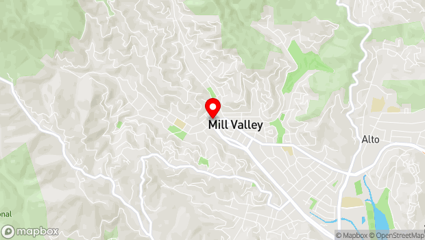 Google Map of 86 Throckmorton Ave, Mill Valley, CA 94941