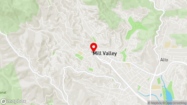Google Map of 108 Throckmorton Ave., Mill Valley, CA 94941