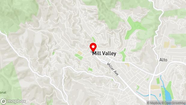 Google Map of 108 THROCKMORTON AVE, Mill Valley, CA 94941