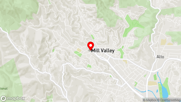 Google Map of 142 Throckmorton Avenue, Mill Valley, CA 94941