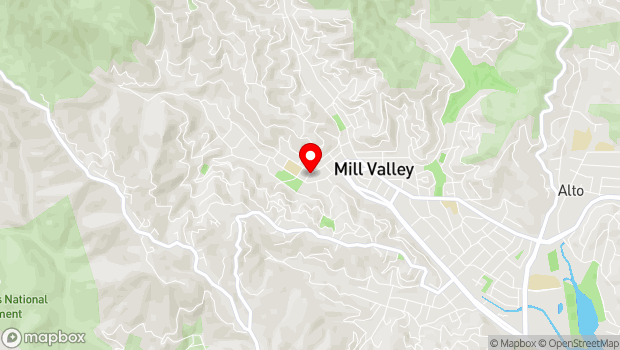 Google Map of 10 Olive Street, Mill Valley, CA 94941