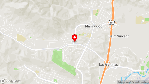 Google Map of 775 Miller Creek Road, San Rafael, CA 94903