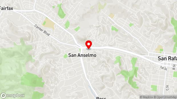 Google Map of 70 Greenfield Ave, San Anselmo, CA 94960