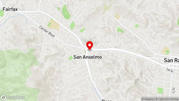 Google Map of 20 Greenfield Avenue, San Anselmo, CA 94960