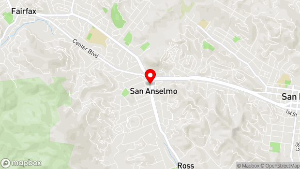 Google Map of 249 Sir Francis Drake Blvd., San Anselmo, CA 94960