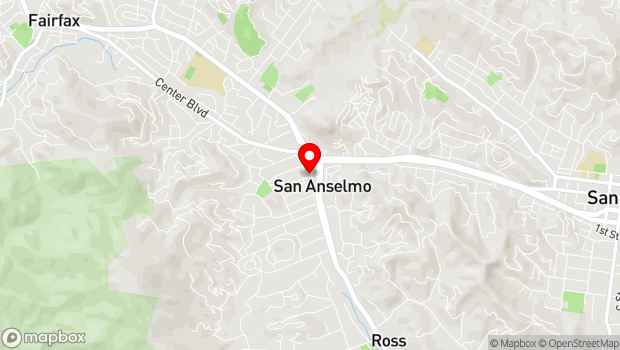 Google Map of 603 San Anselmo Ave, San Anselmo, CA 94960
