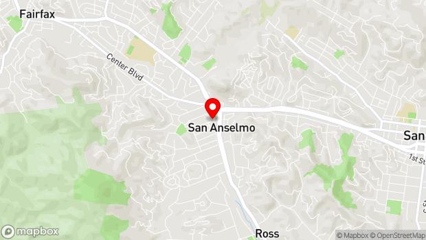 Google Map of 603 San Anselmo Ave, San Anselmo, CA 94960