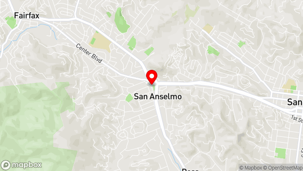 Google Map of 636 San Anselmo Ave, San Anselmo, CA 94960