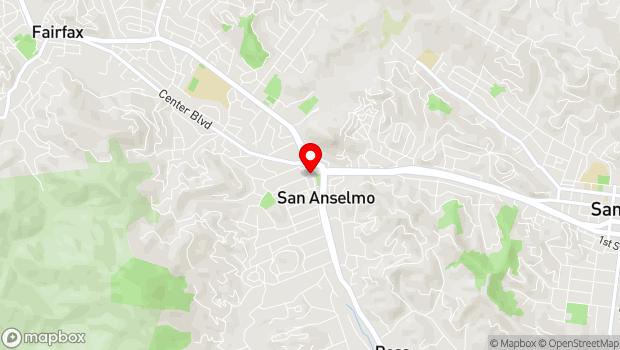 Google Map of 506 San Anselmo Avenue, San Anselmo, CA 94960