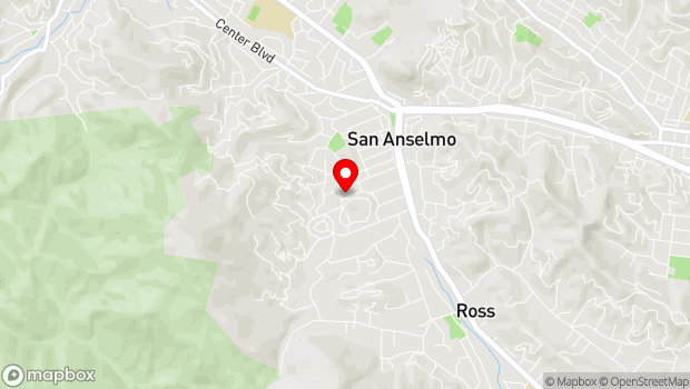 Google Map of 72 Kensington Road, San Anselmo, CA 94960