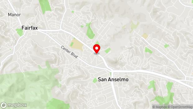 Google Map of 921 Sir Francis Drake Blvd, San Anselmo, CA 94960