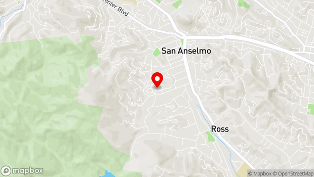 Google Map of 27 Kensington Road, San Anselmo, CA 94960