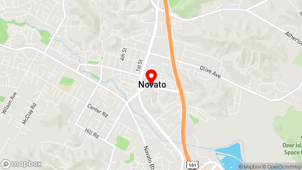 Google Map of 901 Sherman Ave, Novato, CA 94945