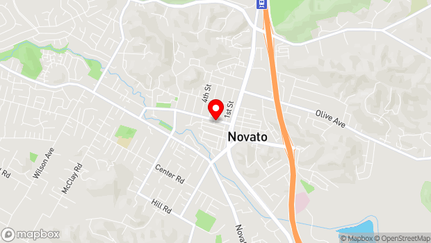 Google Map of 1133 Grant Ave, Novato, CA 94945