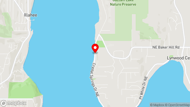 Google Map of 3939 Crystal Springs Dr NE, Bainbridge Island, WA 98110