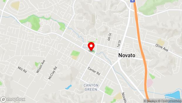 Google Map of 1720 Novato Blvd., Novato, CA 94947
