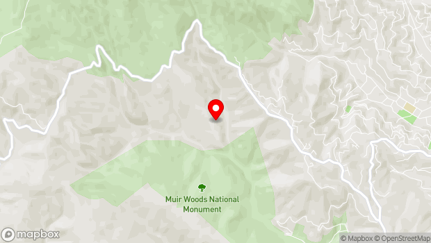 Google Map of 801 Panoramic Highway, Mill Valley, CA 94941