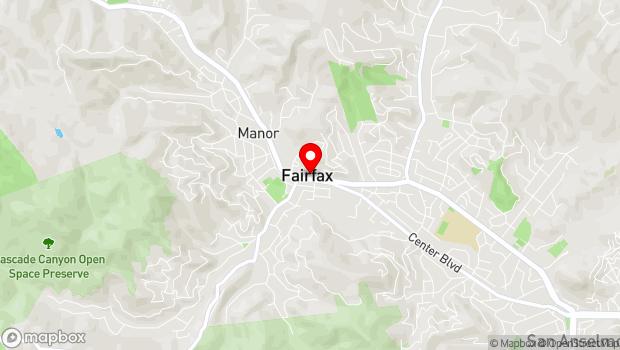 Google Map of 1820 Sir Francis Drake Blvd, Fairfax, CA 94930