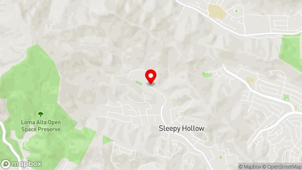 Google Map of 1500 Butterfield Rd., San Anselmo, CA 94960