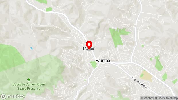 Google Map of 2097 Sir Francis Drake Blvd., Fairfax, CA 94930