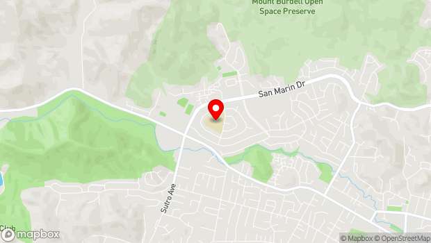 Google Map of 45 San Ramon Way, Novato, CA 94945