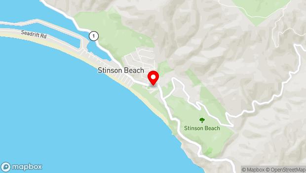 Google Map of 3445 Shoreline Highway, Stinson Beach, CA 94970