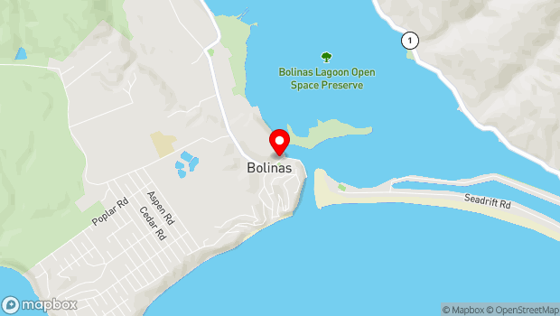 Google Map of 41 Wharf Road, Bolinas, CA 94924