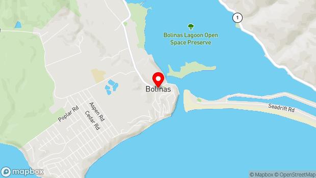 Google Map of Bolinas, CA 94924