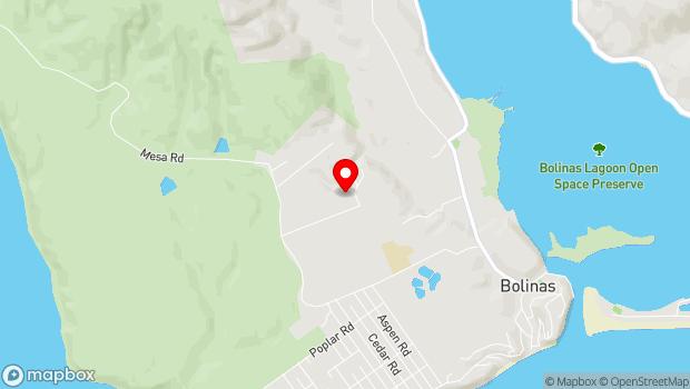 Google Map of 280 Mesa Road, Bolinas, CA 94924