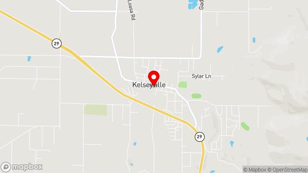 Google Map of 3955 Main St, Kelseyville, CA 95451