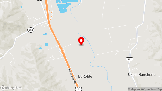 Google Map of 4001 Cox-Schrader Rd., Ukiah, CA 95482