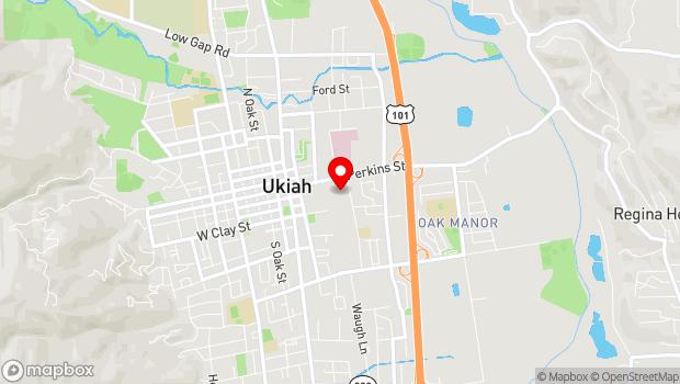 Google Map of 309 East Perkins Street, Ukiah, CA 95482