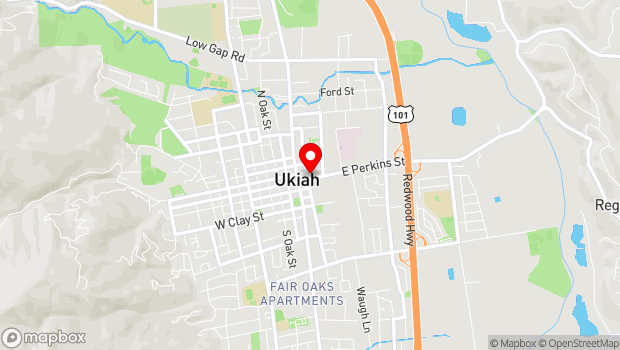 Google Map of 105 N. Main Street, Ukiah, CA 95482