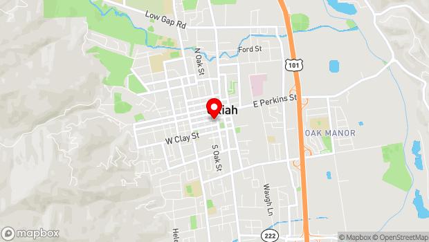 Google Map of 200 S. School St., Ukiah, CA 95482