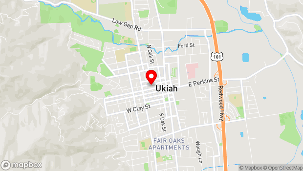 Google Map of 270 N. Pine St., Ukiah, CA 95482