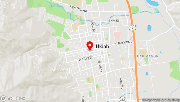 Google Map of 514 W. Church Street, Ukiah, CA 95482