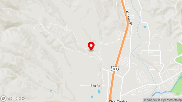 Google Map of 501 Parducci Road, Ukiah, CA 95482
