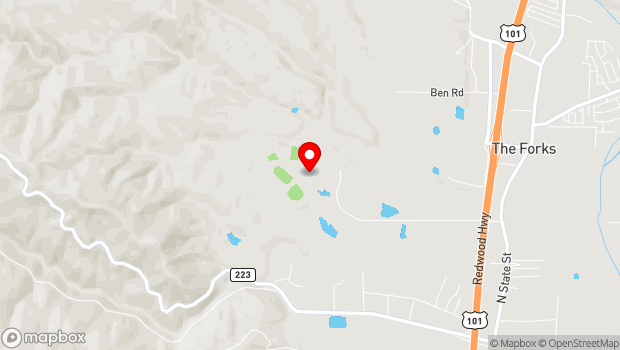 Google Map of 1000 Hensley Creek Rd., Ukiah, CA 95482