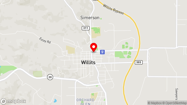 Google Map of 71 E Commercial St, Willits, CA 95490