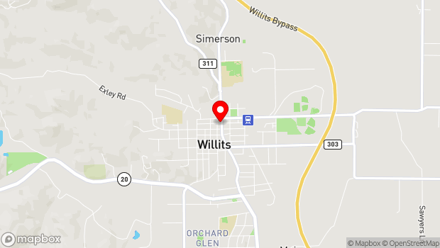 Google Map of 50 South Main Street, Willits, CA 95490