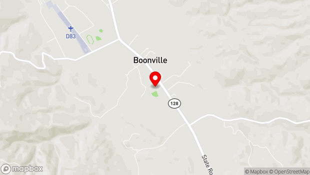 Google Map of Highway 128, Boonville, CA 95415