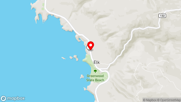 Google Map of 6031 S. Highway One, Elk, CA 95432