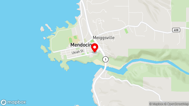 Google Map of 44831 Main Street, Mendocino, CA 95460