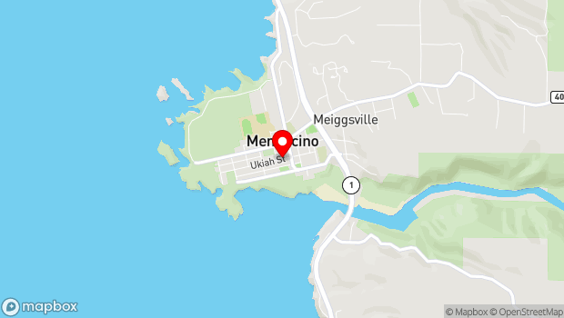 Google Map of 45018 Ukiah Street, Mendocino, CA 95460