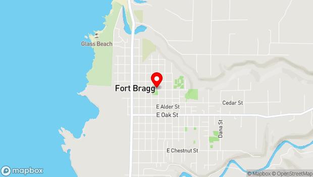 Google Map of 499 East Laurel St., Fort Bragg, CA 95437