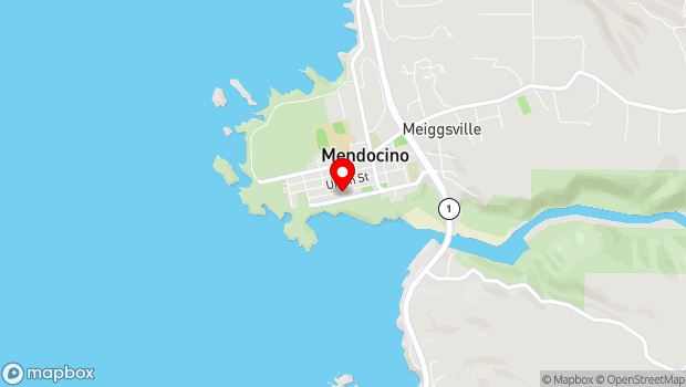 Google Map of 10400 Kasten Street, Mendocino, CA 95460